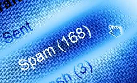 e-mail spam closeup