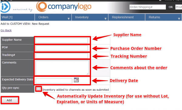 How to Upload a Replenishment with Lot Number, Expiration Date, and Units of Measure as an OMS