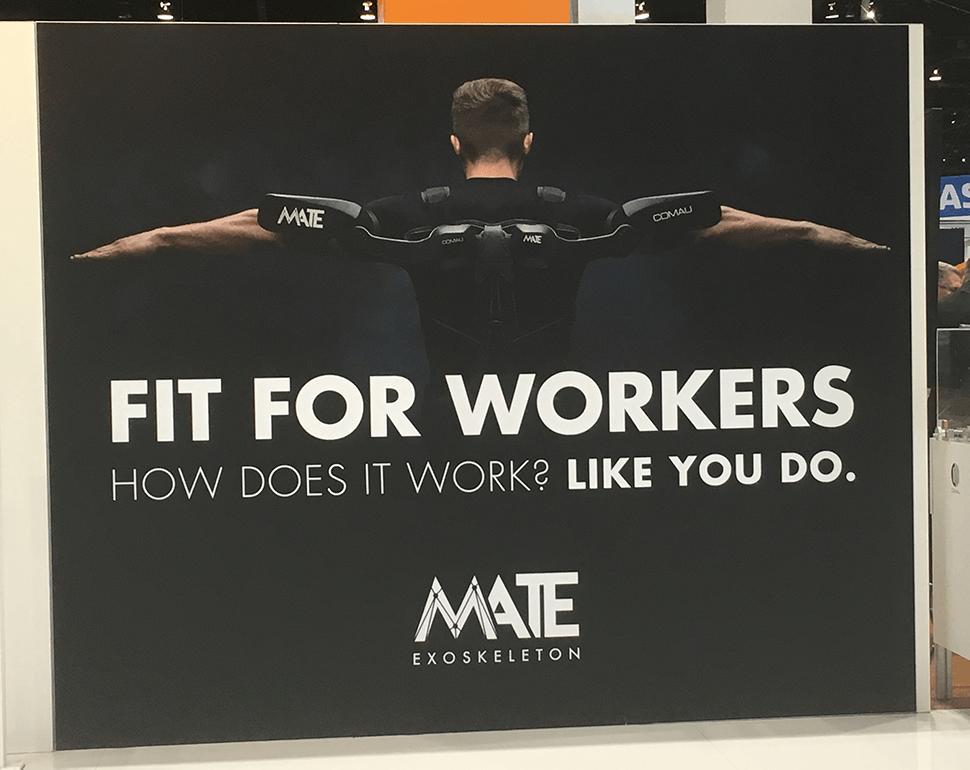 Promat 2019 Automate 2019 Comau Mate Exoskeleton