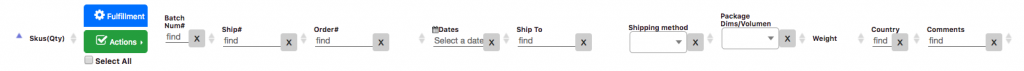 Using Processing Filters in the Shipping View