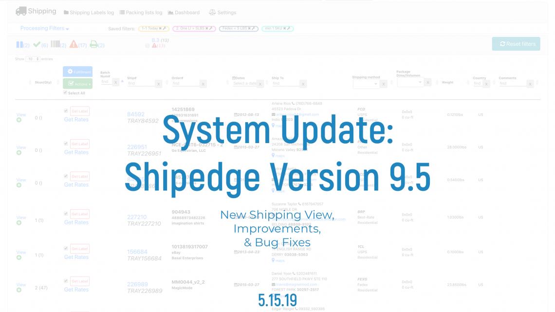 Shipedge System Update