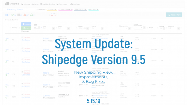 Shipedge System Update
