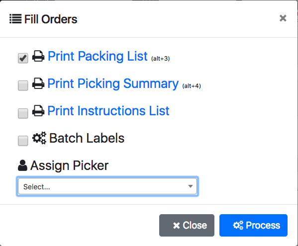 Using the Shipping View