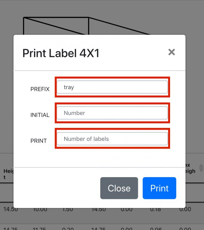 Shipedge Print Barcoded Trays