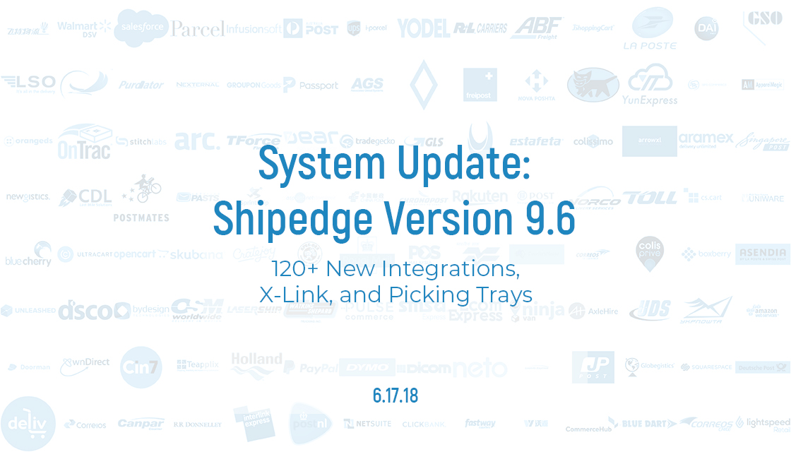 Shipedge 9.6 Integrations